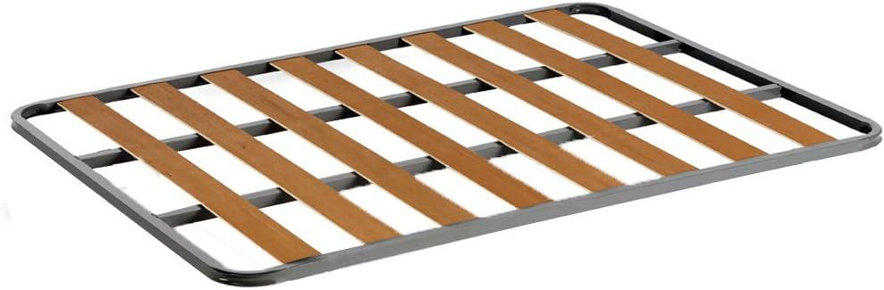 HOGAR24 Somier de Acero con láminas de chopo. Fabricación Nacional. 80x200cm-SIN Patas