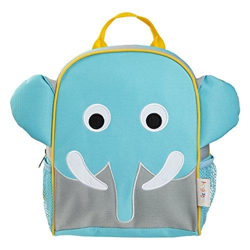smileBaby Kinder Rucksack für den Kindergarten und Freizeit blauer Elefant