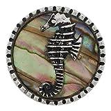 My Prime Gifts Snap Jewelry - Cavalluccio Marino in Conchiglia di Abalone, Compatibile con 18-20 mm