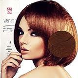 Coloration Professionnelle Pour Cheveux Blonde Clair Cuivré Doré Rouges Cuivrés avec Ammoniaque 8/63 Permanente 100ml Made in Italy