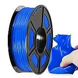 Filamento TPU 1.75mm, SUNLU TPU Filamento Stampante 3D, Flessibile Filamento 1.75, Precisione Dimensionale +/- 0.03mm, 0.5kg Spool, 1.75 TPU Blu
