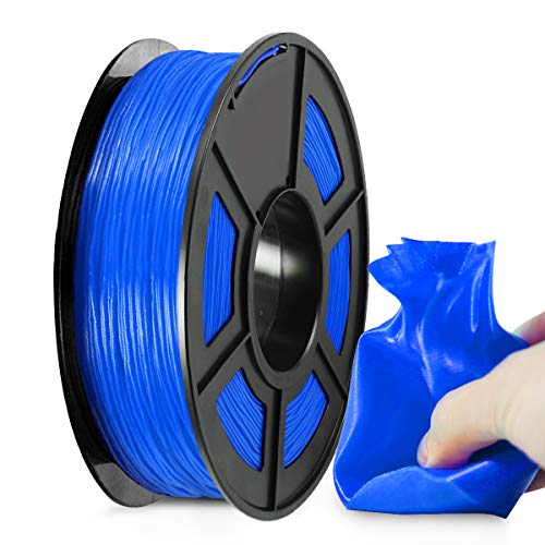 Filamento TPU Stampante 3D 1,75, Filamento Flessibile TPU Blu SUNLU 1,75 mm, Stampante 3D FDM Adatta, Bobina 0,5 kg, Precisione Dimensionale +/- 0,02 mm, TPU Blu