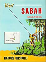 ERZAN大人のパズル木製パズル1500-訪問サバマラヤマレーシアビンテージ旅行広告アート大人子供パズル
