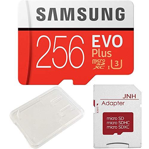 Samsung microSDXC EVO Plus UHS-I 256GB Nintendo Switch 動作確認済 JNHオリジナルSDアダプター + 保管用クリアケース [バルク品]