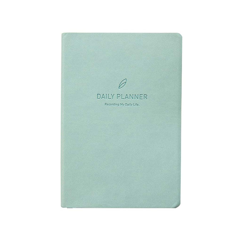 オフィスノート ノートブック肥厚スケジュール計画本効率マニュアル2019年ノートブックメモ帳日記ノートブック (Color : Blue, サイズ : 14*21cm)
