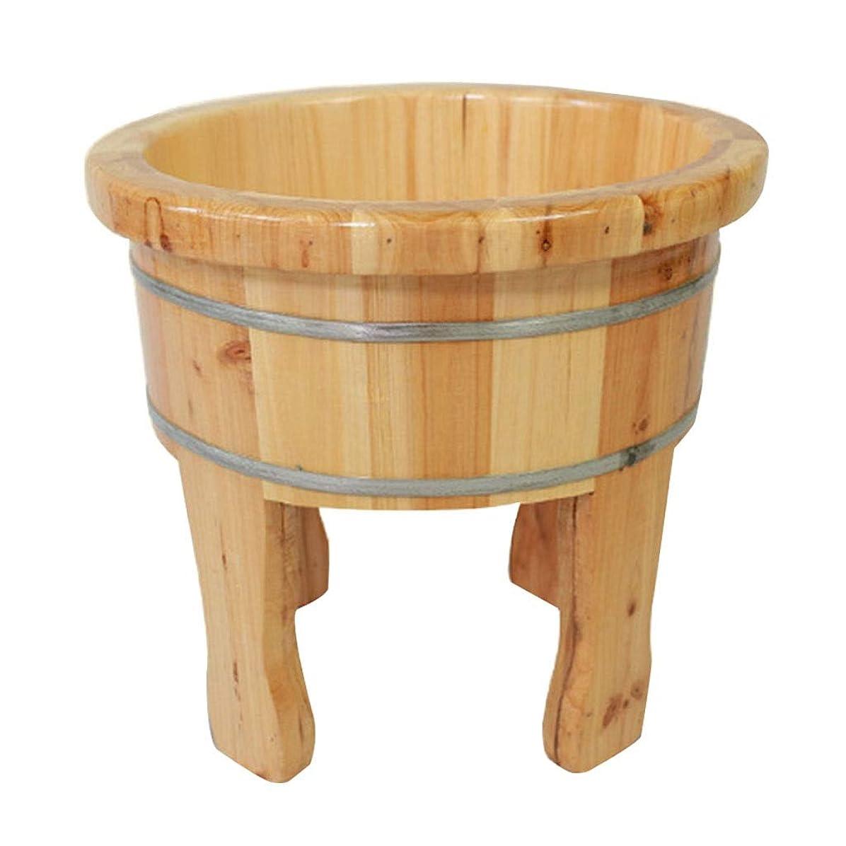 エイリアン誕生日署名マッサージクッション フットバスバレル、甲高い木製の樽、浴槽お座りバース、ホームホテルフットお風呂足モミ (Color : Wood color, Size : 44*38cm)
