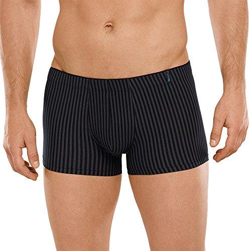 Schiesser Herren Long Life Soft Unterwäsche Short atmungsaktiv und hautfreundlich, Schwarz (blauschwarz 001), Gr. Medium (Herstellergröße: 005)