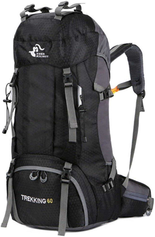 Lounayy 65L Sport Schulter Outdoor Wasserdicht Wandern Stylisch Oxford Mode Kletterrucksack (74Cm  32Cm  20Cm) (Farbe   Schwarz, Größe   One Größe)