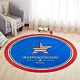 Alician Home Alfombra redonda 3D antideslizante alfombra para silla de ordenador para el hogar y la habitación de los ni?os, Estrella., 80 cm