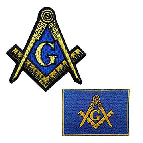 Cute-Patch Freemason Masonic Square and Compass Embroidered Iron on Patch Milspec SWAT Badge