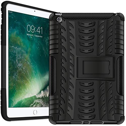Verco Hülle für iPad Air 2 (2014 Modell), Outdoor Schutzhülle Armor Tablet Case Cover [A1566 / A1567], Schwarz