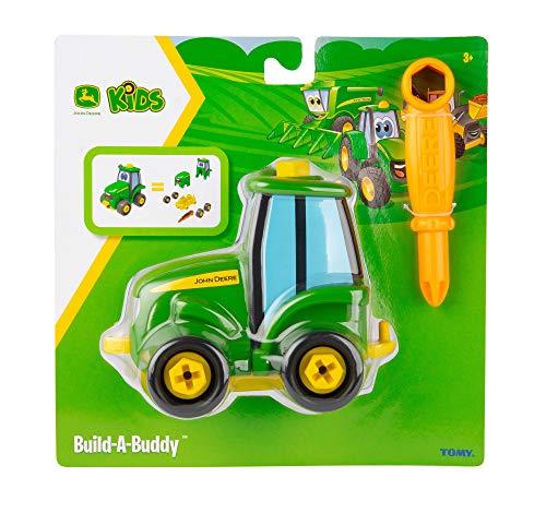 Bau dir deinen Johnny Freund Traktor Spielzeug, Schiebe Spielzeug Traktoren für Kleinkinder, Interaktives Spielzeug zum Schieben, Push Toys Geeignet ab 18 Monaten, 2 & 3 Jahren, für Jungen und Mädchen