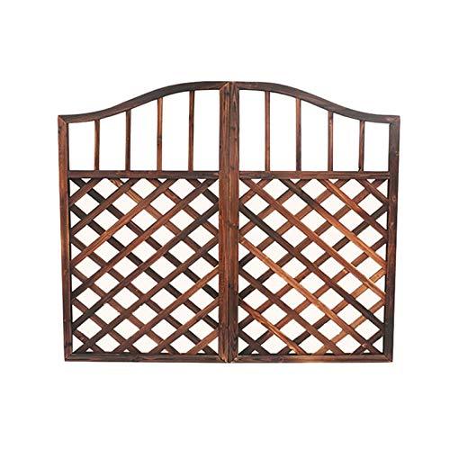YUSHRO Puerta de Valla Barandilla Paneles A Prueba de Humedad Carbonizado Madera Maciza Estilo Retro Decorativo Puerta de jardín (Color : A, tamaño : Pequeño)