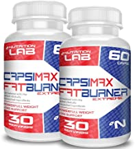 CapsiMax Burn Extra Strong Formula Metabolism Booster Fat Burner Delivers Rapid Weight Loss 100 Natural 120 Capsules Offer Free UK Shipping Estimated Price : £ 49,99