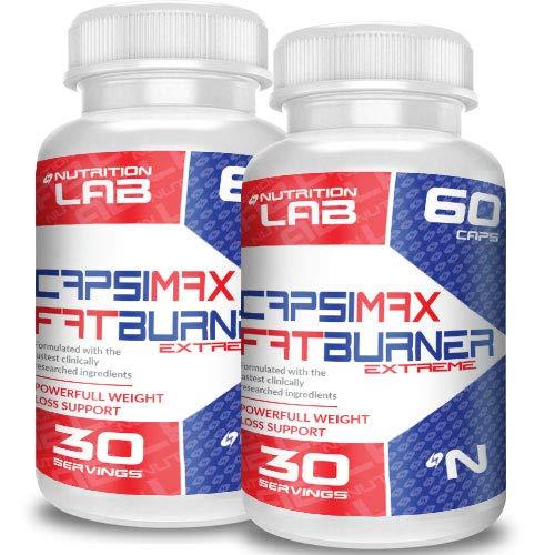 Capsimax: Suplemento QUEMA GRASA en cápsulas a base de Capsaicina (piperina) - ayuda a ADELGAZAR RAPIDAMENTE - 100% natural -SUPER OFERTA 2 botellas | ENVÍO GRATIS