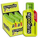 NUTRIXXION® HIGH ENERGY GEL | Energiegel mit BCAA Aminosäuren | HIGH CARB GEL | Geschmack Waldmeister, Set 24 x 44g