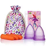 Melyth Copas Menstruales (1 Grande y 1 Pequeña) - Copas de Menstruación Pre y Posparto Reutilizables - Encuentra La Que Mejor Se Te Ajusta - La Mejor Alternativa a los Tampones y las Compresas