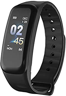 Morenitor C1S Smart Bracelet, Heart Rate Monitor Tracker Bluetooth Sport Watch Sleep Monitor Smartwatch for Android 4.3 or iOS 8.0 (Black)