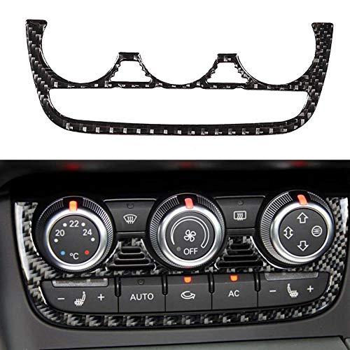 Qualilife Carbon Fiber Auto Klimaanlage Aufkleber Dekoration Fit für Audi TT 8n 8J MK123 TTRS 2008 2009 2010 2011 2012 2013 2014