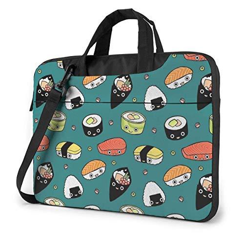 Japan Sushi Kawaii Laptop Sleeve Case 15.6 Inch Computer Tote Bag Shoulder Messenger Briefcase