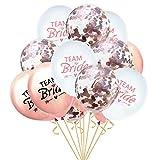 Oblique Unique® Team Bride Konfetti Luftballon Set für Hochzeit JGA Junggesellinnenabschied Hen...