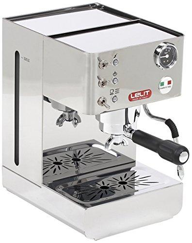 Lelit Anna PL41LEM semi-professionelle Kaffeemaschine, ideal für Espresso-Bezug, Cappuccino und Kaffee-Pads-Edelstahl-Gehäuse, Stainless Steel, 2 liters, silber