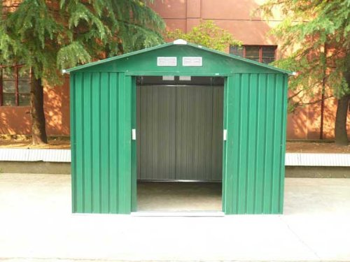dirty pro tools Width 7Ft 9' x Depth 5Ft 9' METAL GARDEN SHED with base