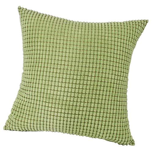 Funda de cojín Cuadrada sólida Familiar con Cremallera Invisible para sofá, Funda de Almohada Decorativa Fundas de Almohada de Pana de Terciopelo Decorativas de 20 x 20 Pulgadas - Naranja