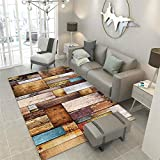 WQ-BBB Alfombra Carpets Sin Desvanecimiento diseño Moderno Sofa Rug minimalismo Carpet Imitación Efecto de Giro marrón Beige Azul Rojo alfombras de Pasillo 180X260cm