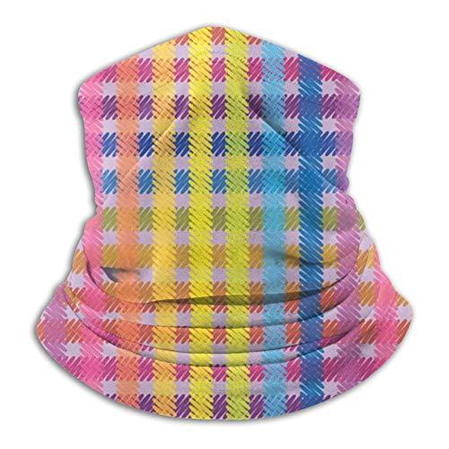 Towel&bag Rainbow Lattice Balaclava Hood for Motorcycle Cycling Running Skiing Snowboard Headbands