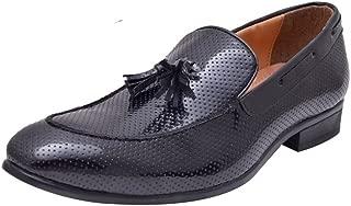 HiREL'S Men Black Patent Tassel Mocassions Loafers