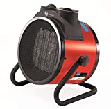 Best Garage Heaters - Draper 63858 PTC Electric Space Heater (2.8KW), Red Review