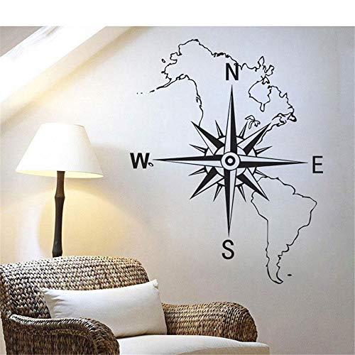 Nordamerika Südamerika Karte Kompass Thema Kind Jugendzimmer Wohnzimmer Dekorativ Wandaufkleber Kinderzimmer Wandtattoo Schlafzimmer