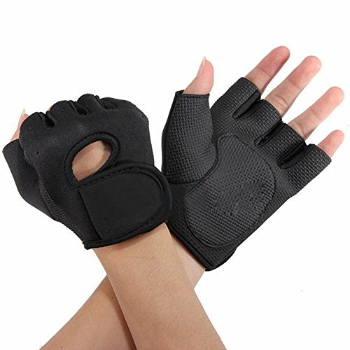 Flammi Women's Exercise Gloves Fitness Gym Workout Gloves Fundamental Training Gloves (Black)