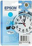 Epson 27XL DURABrite Ultra - Cartucho de tinta, paquete estándar, cian, válido para los modelos WF-7110DTW, WF-7210DTW, WF-7610DWF, WF-7620DTWF y otros, Ya disponible en Amazon Dash Replenishment