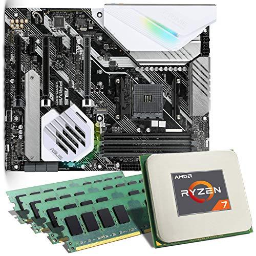 AMD Ryzen 7 3800X / ASUS Prime X570-PRO Mainboard Bundle / 32GB | CSL PC Aufrüstkit | AMD Ryzen 7 3800X 8X 3900 MHz, 32GB DDR4-RAM, GigLAN, 7.1 Sound, USB 3.1 | Aufrüstset | PC Tuning Kit