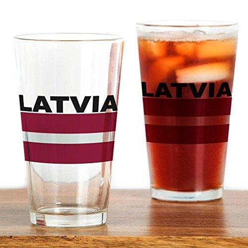 CafePress–Lettland Flagge–Pint-Glas, 16oz Trinkglas farblos