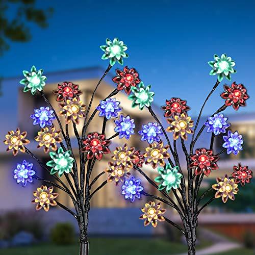 Solarleuchte für Außen, KagoLing 2 Stück Solarleuchte Garten Solarleuchten Gartendeko Wasserdicht 2 Modi Solar Beleuchtung für Garten, Hof, Hochzeit, Fest Deko, Terrasse, Party, Weihnachten