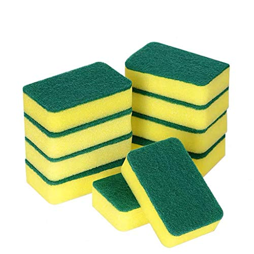 14 PCS Kitchen Cleaning Sponges Eraser,Extra Large Thick Long Lasting Eco Non-Scratch for Dish Scrub Microfiber Sponge Strong Decontamination Multi-Purpose Foam Cleaner Pads