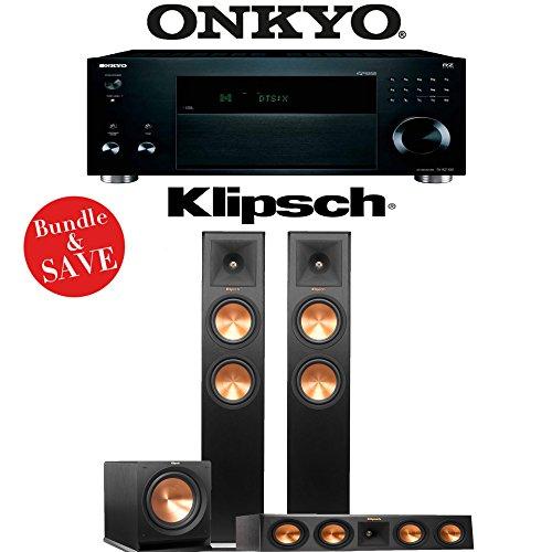 Best Bargain Onkyo TX-RZ1100 9.2-Channel Network A/V Receiver + Klipsch RP-260F + Klipsch RP-440C + Klipsch R-112SW – 3.1-Ch Home Theater Package