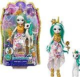 Royal Enchantimals Reina Unity y Stepper, muñeca unicornio con mascota articulada de juguete...
