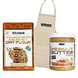 Weider Oat Fluor 1 Kilo Cookies + Peanut Butter 1 Kilo + Delantal 3000 ml