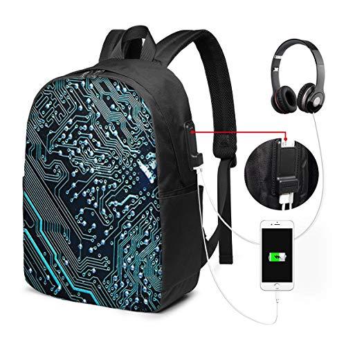 Laptop Rucksack Business Rucksack für 17 Zoll Laptop, Hauptplatine 2 Schulrucksack Mit USB Port für Arbeit Wandern Reisen Camping,für Herren Damen