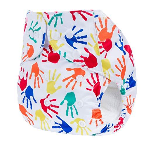 Happy Cherry - Pantalones de Pañales Reutilizables Ajustable para Niños Niñas Bebé 0 a 3 Años Pañal de Tela Transpirable Diaper Lavable Infantil - Colorido