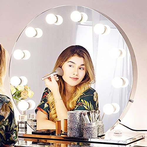 Chende Hollywood Mirror with Lights, Dimmable...
