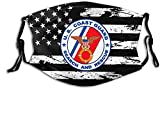 Coast Guard Search and Rescue (SAR) Face Mask with Filter Anti Dust Washable Reusable Breathable Bandana Scarf Shield for Men & Women