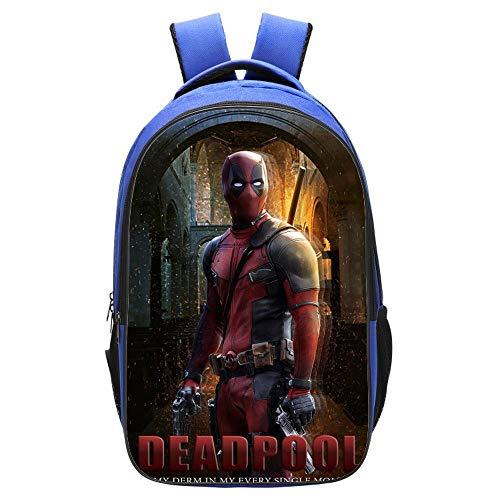 RLJqwad Marvel Kids Mochila Deadpool Mochila, Bolsa de Ordenador, Bolsa de Viaje Mochila de Escuela Primaria 3