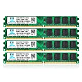 motoeagle 8GB Kit (4x2GB) DDR2 800MHz PC2 6400 6400U Unbuffered Non-ECC 1.8V CL6 2Rx8 Dual Rank 240-Pin UDIMM Sobremesa Memoria Principal Module