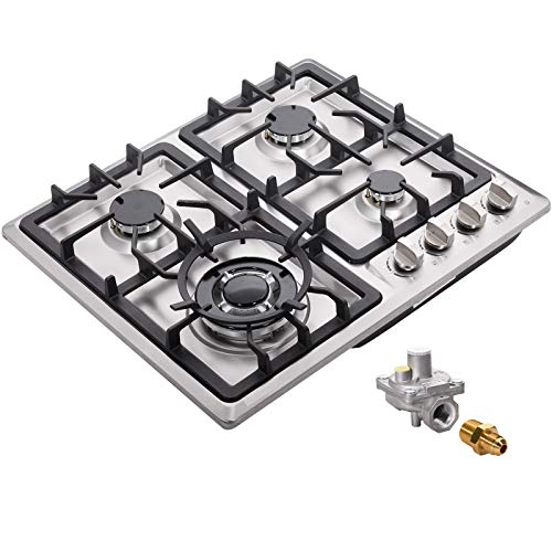 24' Gas Cooktop Dual Fuel 4 Sealed Burners Stainless Steel Drop-In Gas Cooktop DM425-SA05 Gas Hob Gas Cooker