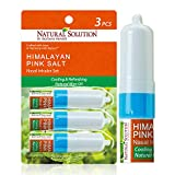 Natural Solution Pink Salt Aromatherapy Nasal Inhaler with Cooling Natural Mint Essential Oils,Natural Remedy for Sinus Relief, Allergies, Headaches, Cold, Flu and Congestion - Pack of 3